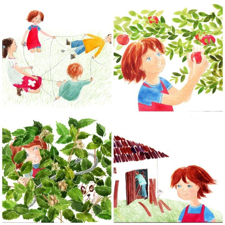 Luli si casuta din copac Collage