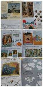 art activity book Collage