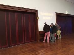 Prima sală a expoziției Titanic, întoarcerea la Cherbourg